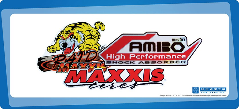 Maxxis laser stickers