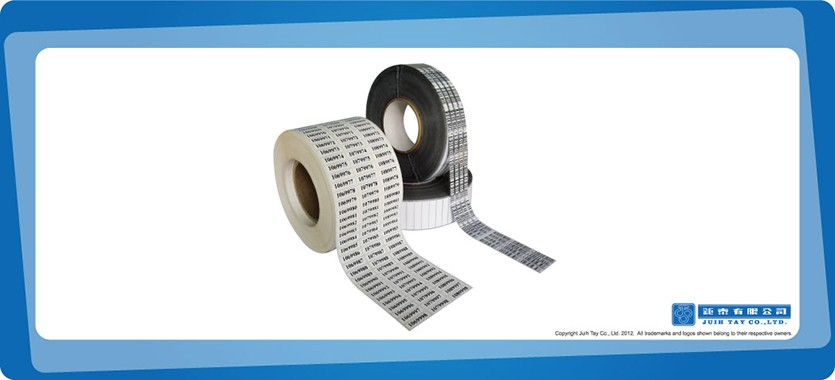 Standard barcodes provided in rolls and rubber decal with barcodes printed for tyre makers