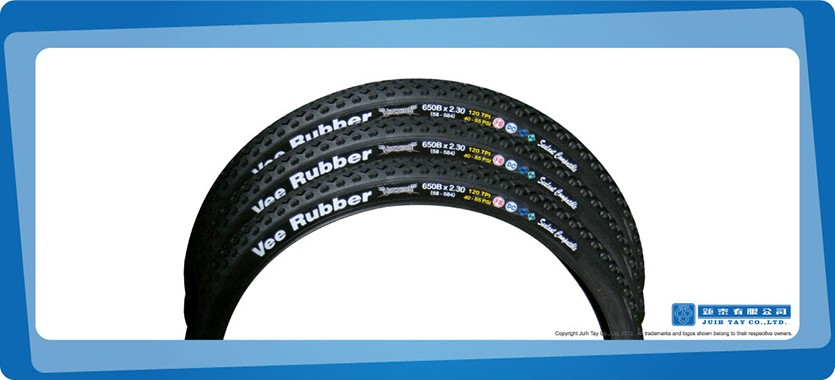 Vee Rubber MTB tyres with rubber decal label